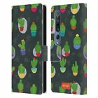 OFFICIAL emoji® CACTUS AND PINEAPPLE LEATHER BOOK WALLET CASE FOR XIAOMI PHONES