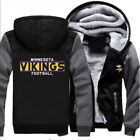 Minnesota Vikings Football Men New Winter Hoodie Coat Thicken Fan Jacket