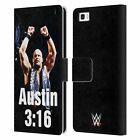 OFFICIAL WWE STEVE AUSTIN LEATHER BOOK WALLET CASE COVER FOR HUAWEI PHONES 2