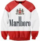 New 3D Marlboro Cigarettes Sweatshirt Fashion Men Women Hoodie Red White Tobako!