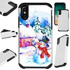 FusionGuard For iPhone Christmas Holiday Phone Case Cover SNOWMAN HOUSE