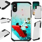 FusionGuard For iPhone Christmas Holiday Phone Case Cover SNOWBOARD SNOWMAN