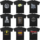 Men's Seinfeld Graphic Printed Short Sleeve T-Shirt Black