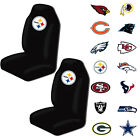 New NFL All Teams Car Truck Universal Fit 2 Front Bucket Seat Covers Set $52.88 USD on eBay