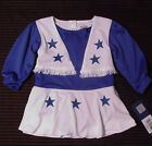 Nwt Dallas Cowboys Ragazze Cheerleader Completo Abito Halloween Costume Sz 2T XS