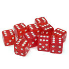 10pcs Six Sided D6 19mm Dice Acrylic Transparent Dice Guessing Playing Game