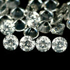 3.33 CT VVS NATURAL HEATED 34PCS WHITE ZIRCON CAMBOCIA ROUND 2 mm.