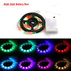 Battery Powered 3258 SMD Tape RGB LED Strip Light Flexible Waterproof 1m/5m