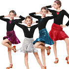 Внешний вид - Kids Latin Salsa Ballroom Dance Dress Girls Dancewear Costume Competition gifts