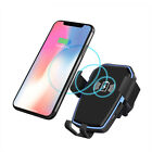 US Qi Inductive Wireless Car Charger Air Vent Mount Bracket For iPhone XR XS Max