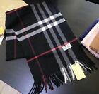 100%25+CASHMERE+BRAND+NEW+AUTHENTIC+7BURBERRY7+SCARF+BIG+CHECK+BLACK+BLACK+WHITE