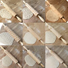 Внешний вид - Christmas Pattern Wooden Rolling Pin Carved Wood Embossing Gift Biscuits