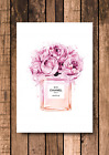 Rose Pink Coco Chanel Print - A4 - Quote Decor Wall Art Fashion 300gsm Card