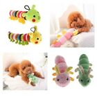 Pet Dog Squeaky Toys Cute Caterpillar Plush Chew Toy For Cat Puppy New Year Gift