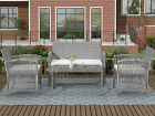 New Design 4PC PE Rattan Outdoor Patio Furniture Set Garden Lawn Sofa Wicker
