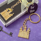 Gold Or Silver Castle Cinderella Fairy Tale Themed Keychains Wedding Favors