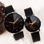 Fashion Men Women Leather Strap Couple Analog Quartz Ladies Wrist Watches Watch image