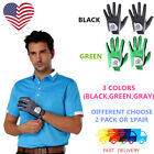 Golf Gloves Left Hand Men's RelaxGrip Black Palm 2 Pack Pick Size