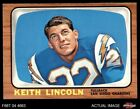 1966 Topps #127 Keith Lincoln Chargers EX $4.5 USD on eBay