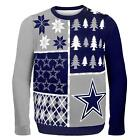 NFL Dallas Cowboys Busy Block Ugly Crew Neck Adult Christmas Sweater   X-Large $34.99 USD on eBay