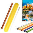 Reusable Glass Straw Wedding Birthday Party Drinking Straws Set  Cleaning Brush