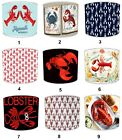 Lobster Designs Nautical Lampshades, Ideal To Match Lobster Duvet Covers.