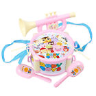 4pcs Children Toy Instruments Kit Drum Small Sand Hammer Horn Kits Toys Gift