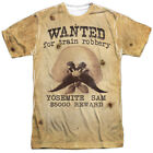 Внешний вид - Looney Tunes TV Show Wanted Yosemite Sam Poster Sublimation ALL Front T-shirt