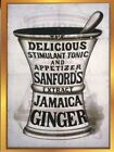 POSTCARD REPRODUCTION OF VINTAGE ADVERTISING SANFORD'S EXTRACT OF JAMICA GINGER