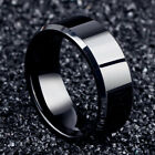 Men Black Titanium Stainless Ring Wedding Lover Couple Rings For Women Size 6-12 image