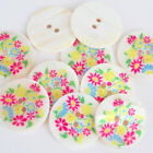 Floral Designed Shell Buttons, SOLD PER ONE button, 15mm, 21mm, 26mm