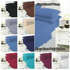 """Fitted Sheet 10"""" Deep Poly Cotton Plain Dyed Bed Sheet Single Double Super King image"""