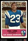 1962 Fleer #80 Paul Lowe Chargers EX/MT $31.5 USD on eBay