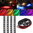 4Pc RGB LED Strip Lamp Under Car Tube Underglow Underbody System Neon Light Kits