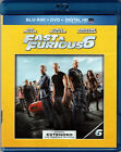 FAST and FURIOUS 6 on BLU-RAY DVD a EXTENDED EDITION with VIN DIESEL & THE ROCK