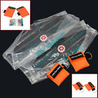 2 Pcs First Aid Emergency CPR Rescue Resuscitator Key Ring Mask Face Shield fsd