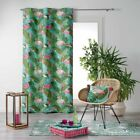 Zootica Flamingo Floral Home Furnishings Voile Curtain Panel Cushion - Multi