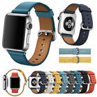 Leather Wrist Strap For Apple Watch iWatch Band 38/40/42/44mm Series 4/3/2/1 image