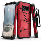 Zizo BOLT Case for Samsung Galaxy S8 Active w/ Holster and Tempered Glass