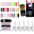 NICOLE DIARY Dipping Powder Starter Kits Liquid Brush Container Nail Art Tool