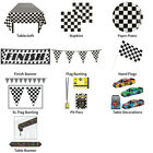 CHEQUERED FLAG RACING THEMED DECORATIONS - PARTYWARE COMPLETE COLLECTION