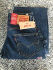 NWT Levi's Mens 550 Relaxed Fit Dk Stonewash Jeans - Sits at Waist, Tapered Leg