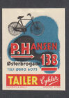 Denmark Poster Stamp A&B  TAILER BIKE BICYCLE
