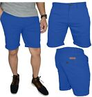 Mens Stretch Chino Shorts Casual Flat Front Slim Fit Spandex Half Pant For Sale