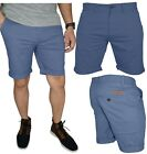 Mens Stretch Chino Shorts Casual Flat Front Slim Fit Spandex Half Pant