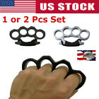 1/2Pcs Outdoor Knuckle Ring Hand Self-Defense Dusters EDC Four Finger Alloy Tool