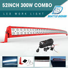 """52inch 300W LED Work Light Bar Flood Spot Combo For Jeep Offroad Truck PK 54"""""""