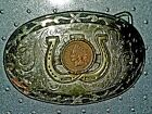 Mens Classic Western buckel With 1906 Indain Head Penny