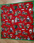 "One Hand tied baby planket size 32,"" x 34"" Christmas"