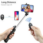 Extendable SelfieStick Tripod Remote Bluetooth Shutter Fit For iPhone X 8 PlusDS